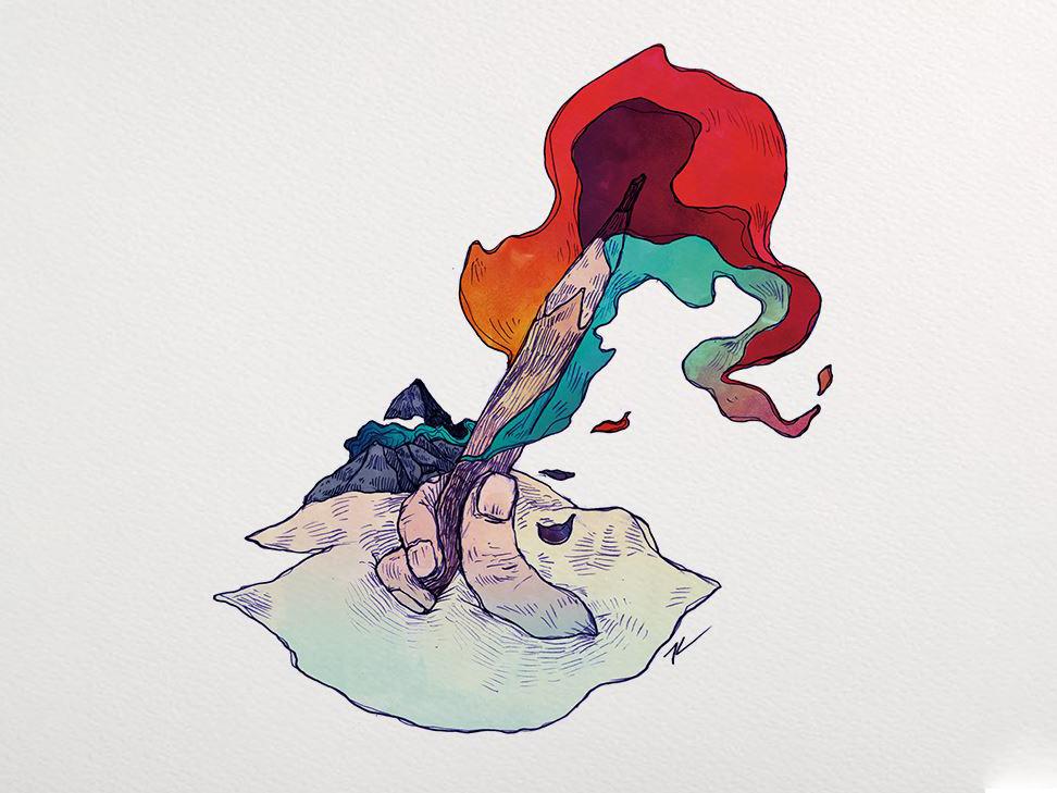 文學高山、悲觀情緒與心靈的火焰